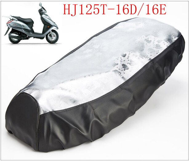 A567 fundas de asiento de cuero de motocicleta para YAMAHA HJ125T-16D/16E, cojín para escúter de motocicleta, funda para Suzuki 125cc AN HJ 125 Seat
