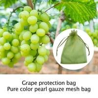 100pcs garden netting bags vegetable grapes apples fruit protection bag agricultural pest control anti bird mesh grape bags