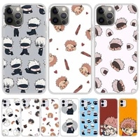 jujutsu kaisen anime phone case for iphone 11 pro shell for iphone 12 pro max 7 8 plus se 2020 x xr xs soft matte cover