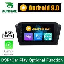 Android 9.0-Octa Core DVD de voiture 4 go RAM 64 go ROM   GPS, adioMultimedia, lecteur stéréo, pour Volkswagen Magotan 2016 VW Radio 2017