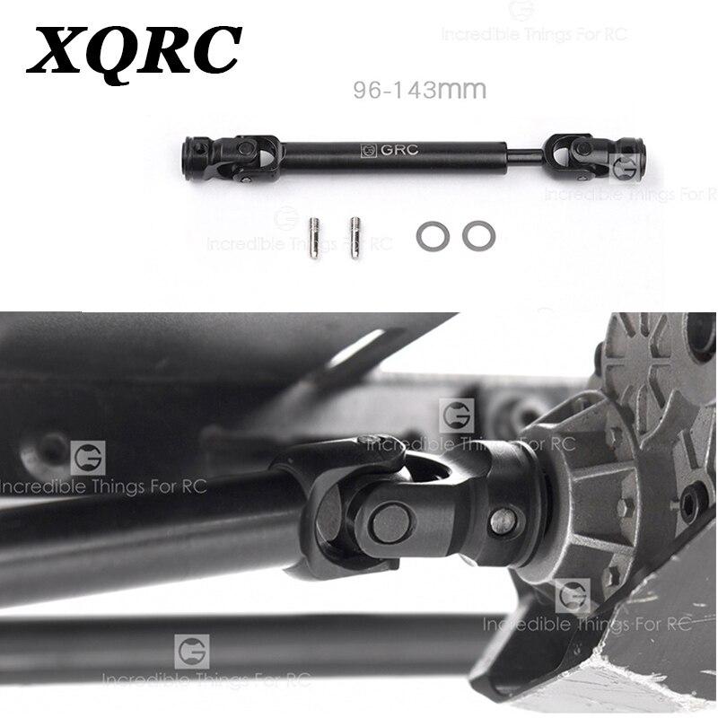 XQRC eje de transmisión de metal para 1/10 RC coche de pista trx6 trx4 axial scx1090046 D90 TF2 RC coche de control remoto partes
