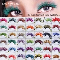 25mm multicolour faux cils thick colored 3d mink eyelashes dramatic long fluffy color real mink lashes live role playing tool