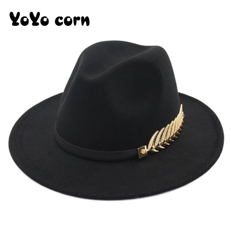 YOYOCORN Fedoras Big Brim Hats For Women British Style Vintage Church Hats Lady Flat Brim Fedoras Au