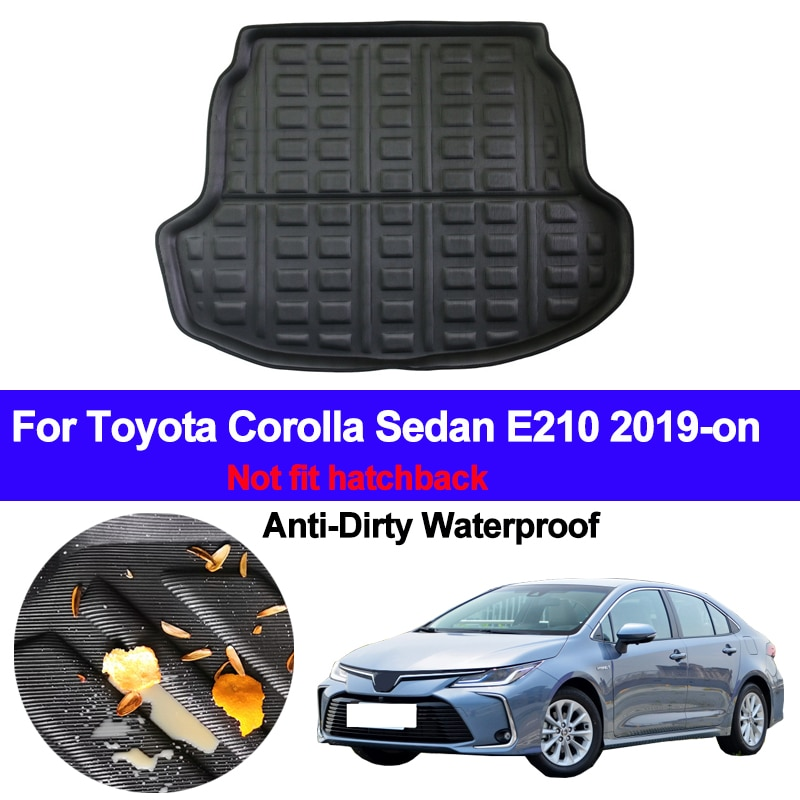 Traseira do carro Bagagem Tronco Bandeja Bota Liner Carga Mat Para Toyota Corolla Sedan E210 2019 2020 Auto Tapete Protetor de Piso anti-sujo