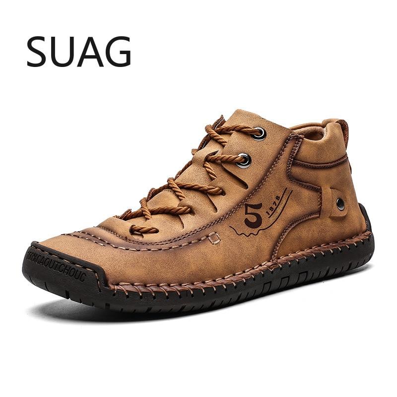 New Winter Warm Men Snow Boots High Quality Comfortable Man Ankle Boots Fur Men Shoes Plush Autumn B