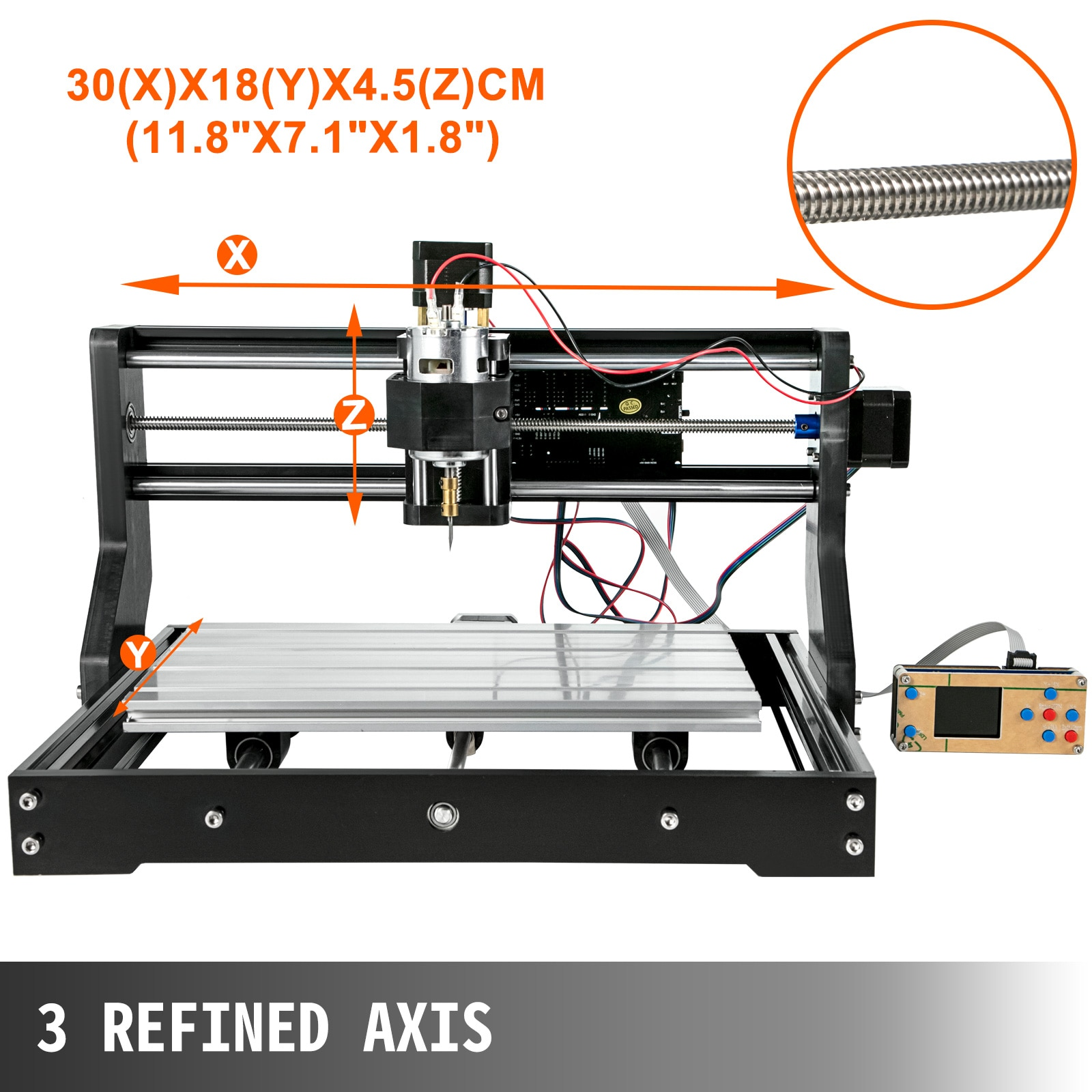 VEVOR CNC 3018 PRO Laser Engraver 3 Axis Wood Router Engraving Machine GRBL with Laser Head ER11 Milling Machine for DIY PCB PVC enlarge