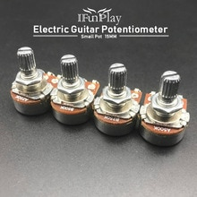 2pcs A500K/250K Potentiometer Splined Small Pot Electric Guitar Bass Effect Amp Tone Volume 15mm Shaft Parts
