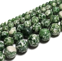 green dot emerald loose beads natural gemstone smooth round for jewelry making