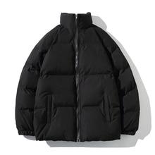 Winter Jacket Men Parkas Thicken Warm Coat Mens Stand Collar Jackets Solid Color Parka Coat Women Fashion New Streetwear 5XL