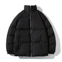 חורף מעיל גברים מעיילים לעבות חם מעיל Mens צווארון עומד מעילי מוצק צבע Parka מעיל נשים אופנה חדש Streetwear 5XL