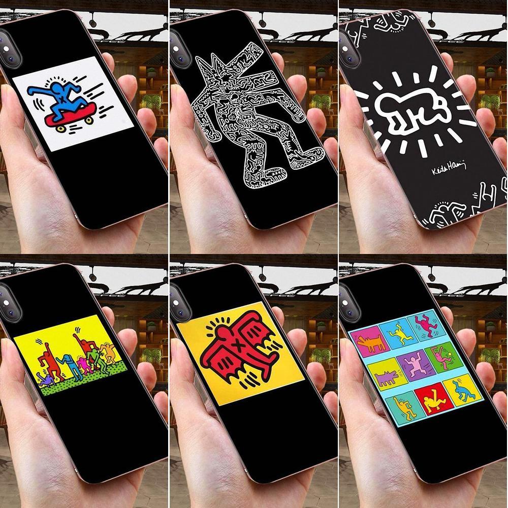 Keith Haring arte diseño para Xiaomi CC9 CC9E Mi 3 4 4i 5 5S 6 6X 8 9 SE jugar Plus Pro Lite A1 mezclar 2 nota 3 de lujo de alta-