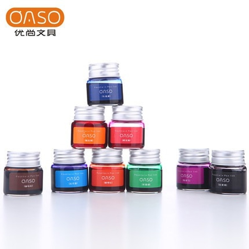 Фото - OASO color pen ink non carbon color ink 20ML pigment does not block Fountain Pen ink rescue ink rescue ink