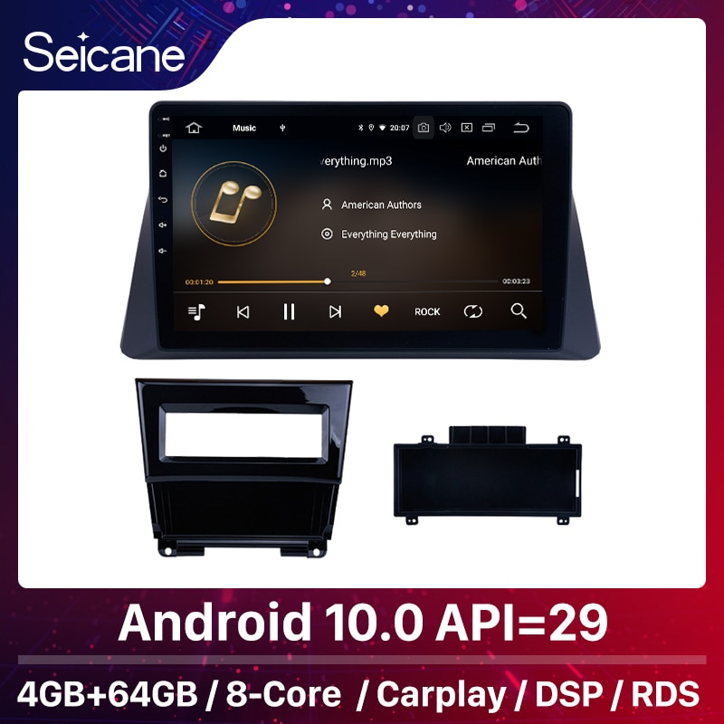 Seicane 4 + 64G 10.0 Android 10.1 de polegada para 2008-2013 Honda Accord 8 Car GPS Navi Auto unidade de rádio Jogador apoio DVR TPMS OBD2