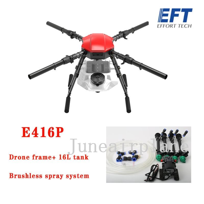 NEW Original EFT  E416S E416P 16L four-axis agricultural 16KG spray drone frame 1393mm wheelbase drone kit 40mm arm