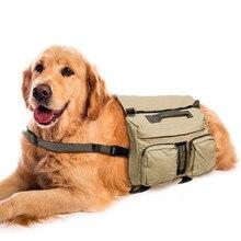 Pet Saddle Harness Bag Adjustable Dog Self-Carry Bag Portable Large Dog Harness Travel Backpack Outdoor Hiking Dog Carrier Bag