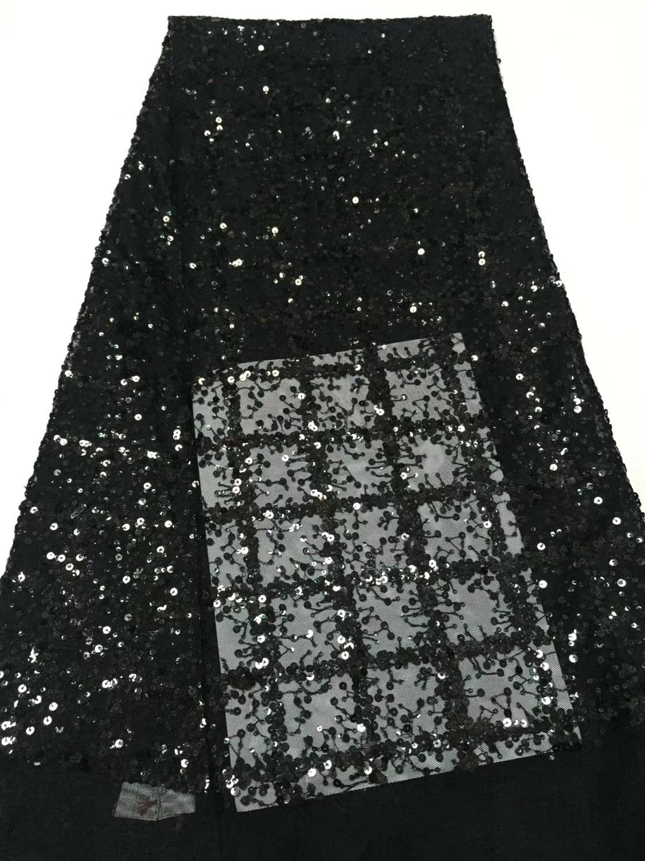 Alta calidad 2019 tul lentejuelas francés nigeriano encaje telas Plume bordado tela de encaje rojo africano
