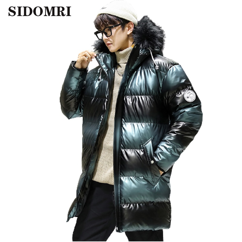 Winter Down jacket new collection down jacket for men white duck down hooded trend jacket with thick fur collar warm wear coat