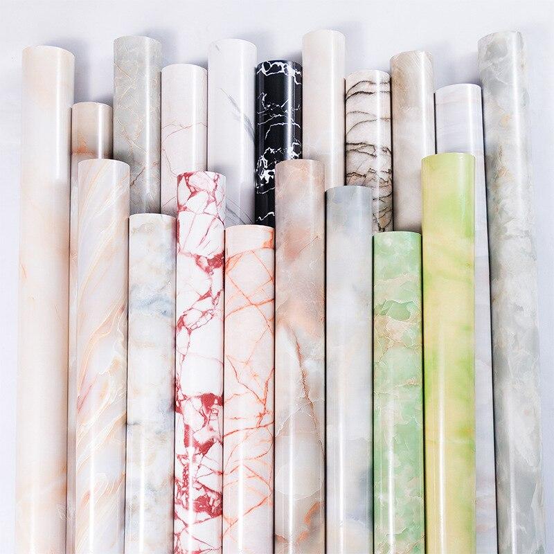 Mueble moderno para sala de estar de 1M, papel tapiz impermeable de mármol, papel de pared autoadhesivo de PVC a prueba de aceite para decoración del hogar