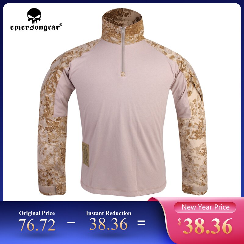 EMERSONGEAR Tactical G3 Combat Shirt Military Shirt Camouflage Multicam Hunting Airsoft Trekking Camping Shooting Outdoor Man T