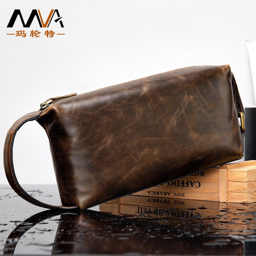 حقيبة يد جلدية للرجال ، جيب ريترو ، شمع زيتي ، جلد ناعم ، اتجاه الأعمال ، هدايا الأعمال ، جديد ، الخريف والشتاء
