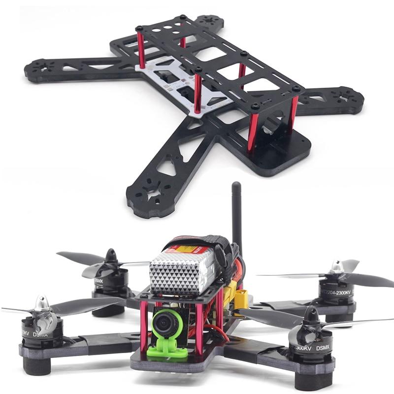 Großhandel QAV250 Radstand 250mm Glas Fibre FPV Racing drone rahmen kit Quadcopter Mini Rahmen mit Verteilung Bord LED