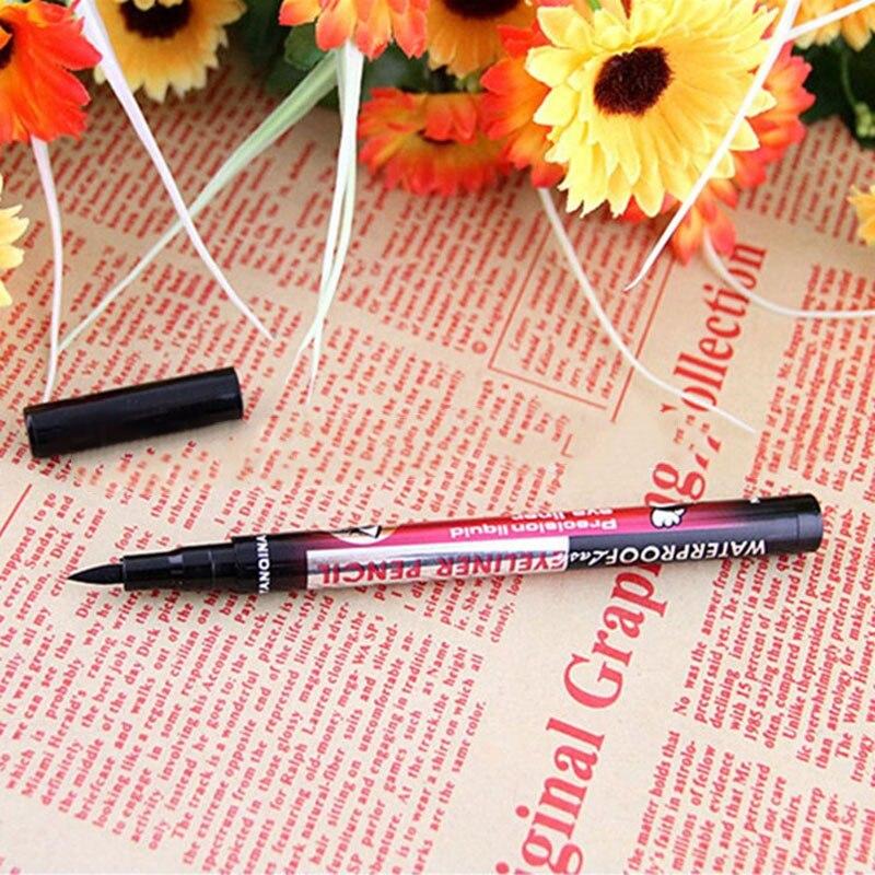 Nuevo delineador de ojos líquido negro YANQINA Ultimate, delineador de ojos resistente al agua de larga duración, lápiz de labios, herramientas cosméticas de maquillaje S