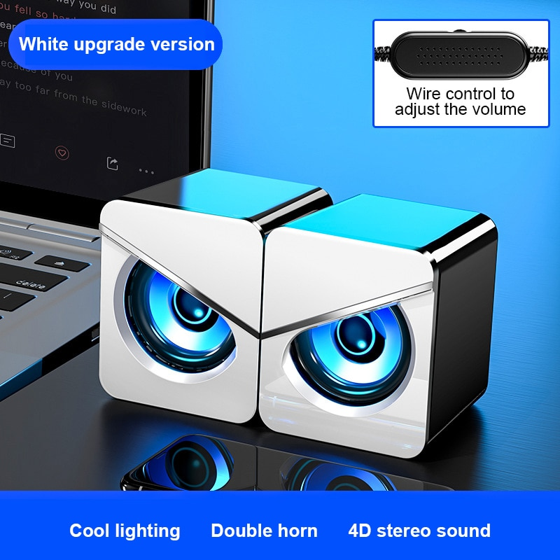 Portable USB Wired Computer Speakers Surround Sound System LED PC Colorful Speakers Gaming Bass USB