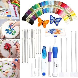 Magic Hand Craft Tool Embroidery Pen Patch Knitting Sewing Tool Kit Punch Needle For Clothing Curtains Insoles Purses DIY