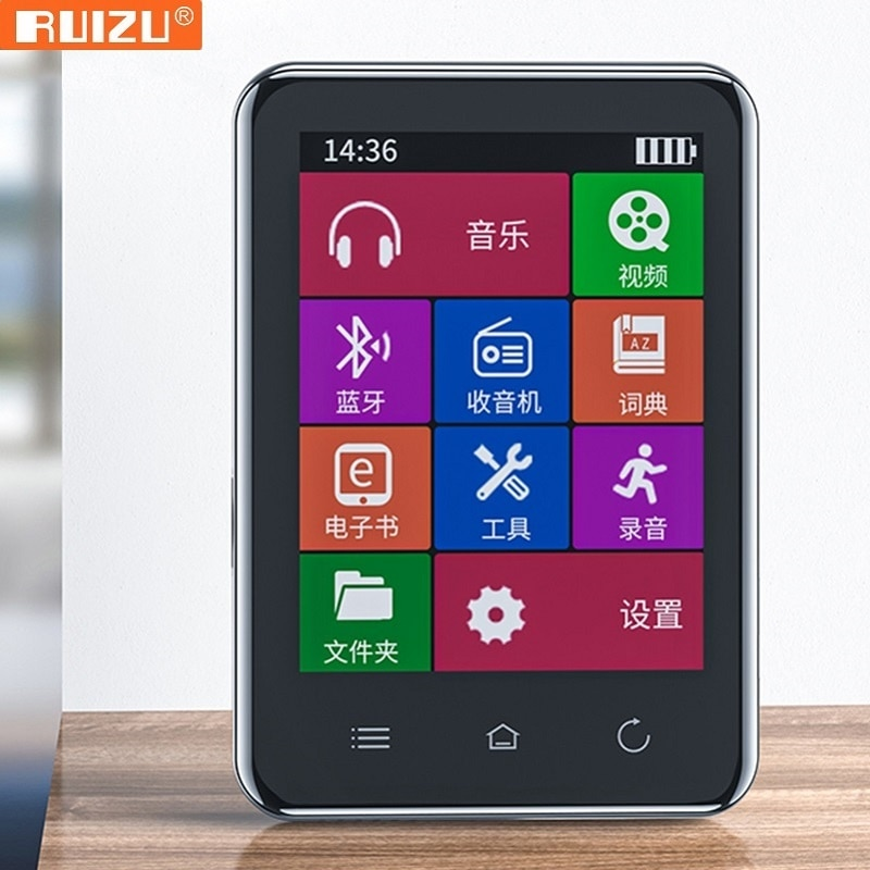 D66 Bluetooth 5.0 MP4 player Built-in Speaker 2.8 inch Touch Screen 16GB/32GB With FM Radio Recording E-Book Video Clock enlarge