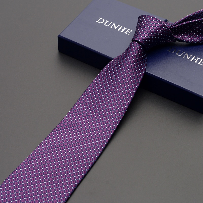 High Quality 2019 New Fashion Ties Men Business 8cm Blue Striped Silk Tie Wedding Ties for men Designers Brand with Gift Box