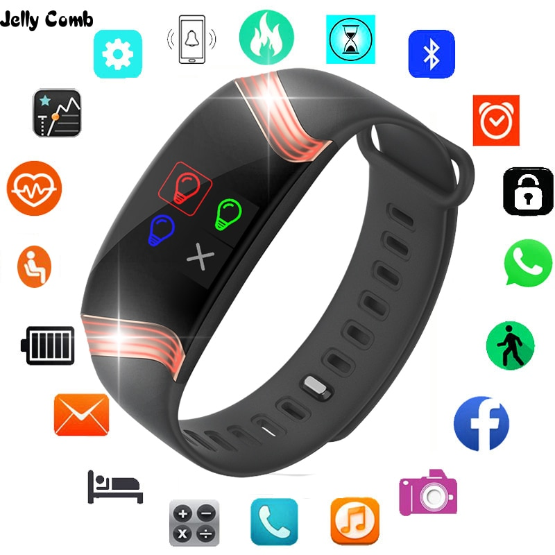 Jelly Comb Men Smart Watch for Xiaomi Smart Fitness Bracelet Heart Rate Monitor Smartwach Smart Watc