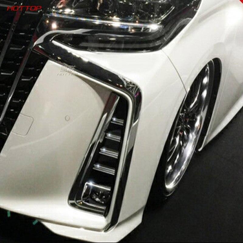 Aplicable 18 para ALPHARD 30 de postproducción coche especial para uso especial lámpara antiniebla cubierta decorativa espejo caja de lámpara antiniebla