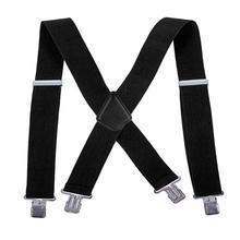 Bretelles à clips ajustables pour hommes   Bretelles élastiques adultes en forme de Y, bretelles à Clip pour pantalon