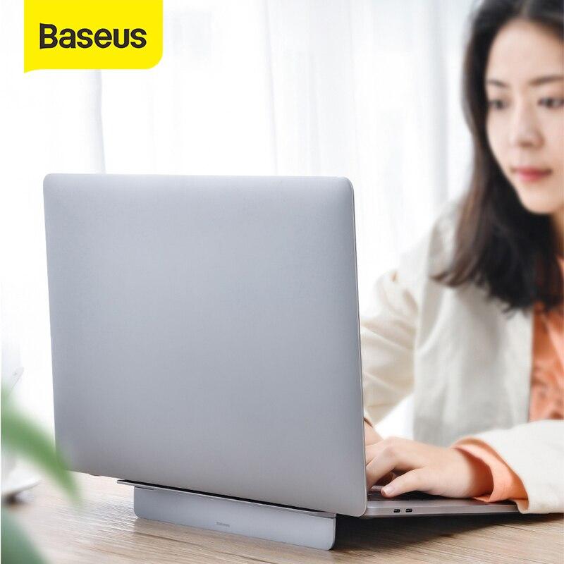 Baseus portátil portátil suporte portátil mesa de alumínio dobrável notebook base suporte do portátil para 12-17 polegada macbook ar pro mac