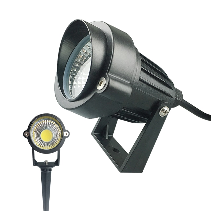 3W 5W LED COB jardín lámpara de césped al aire libre LED Luz de pico iluminación impermeable Led luz de camino de jardín focos AC110V 220V DC12V