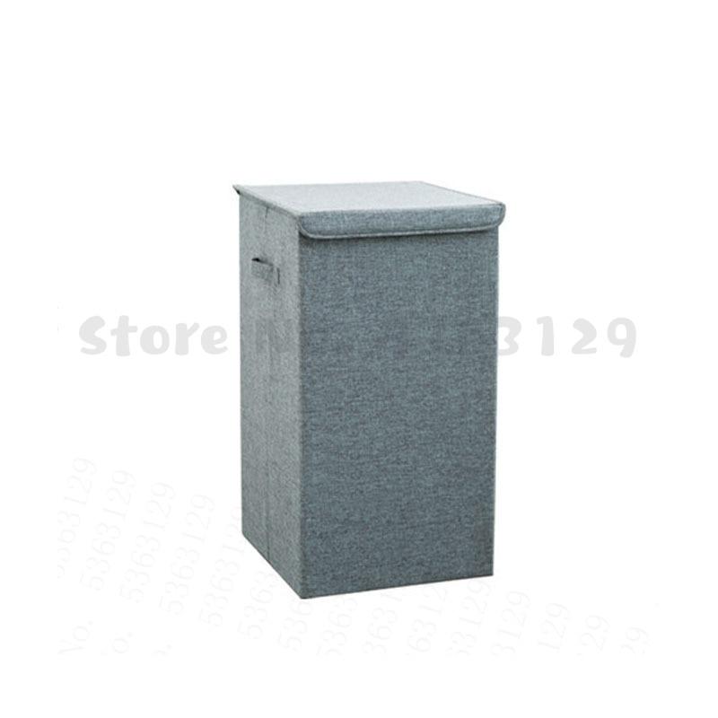 سلة الغسيل القطن مع غطاء الحمام سلة الغسيل سلة التخزين المطبخ كبيرة المنزل للطي سلة الغسيل مقاوم للماء