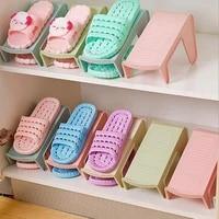 fashion durable plastic shoes display rack organizer space saving storage holder shelf
