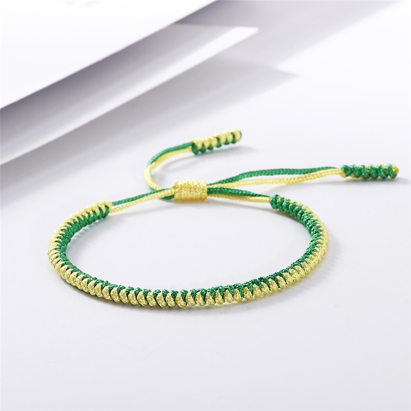 Pulseras y brazaletes tibetanos de colores budistas hechos a mano con amuleto de la suerte hechos a mano con nudo de cuerda, pulsera de la amistad, regalos para hombres y mujeres