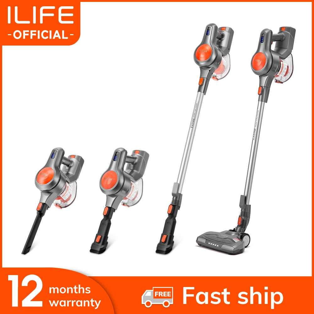 AliExpress - EASINE by ILIFE H70 Cordless Wireless Handheld Vacuum, 21KPa Suction Power, 40Mins runtimes, removable battery, 1.2L Dust box