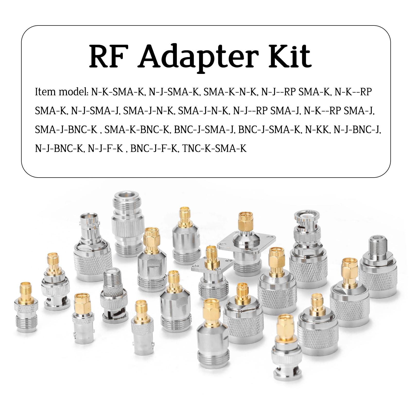 RFN01-Juego de herramientas de prueba RF 20 en 1, multifunción, Adaptador SMA-J...