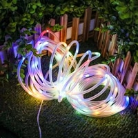 led rope light string usb powered solar energy 10m 100 led remote multi colored dimmable waterproof courtyard home holiday decor
