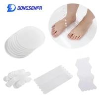 Bande antiderapante transparente pour salle de bain  bandes antiderapantes  flocons de neige carres et ronds  en forme de S