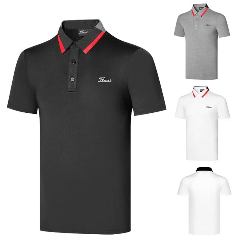 Golf apparel short sleeve men's apparel outdoor sports jacket breathable polo