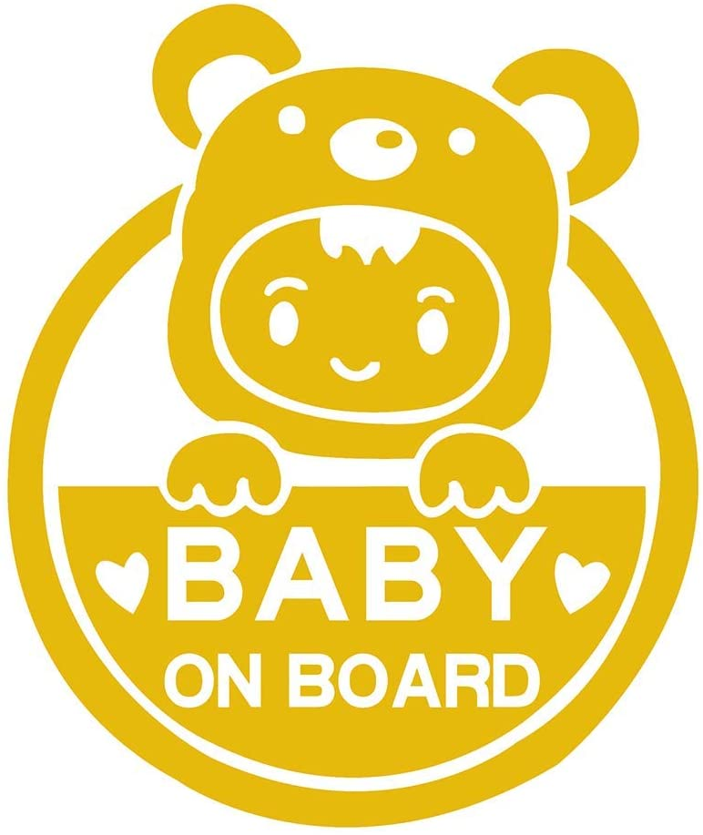 Personality Baby signs on cars pay attention to decals, reflective child safety warning stickers, for drivers, heat-resistant
