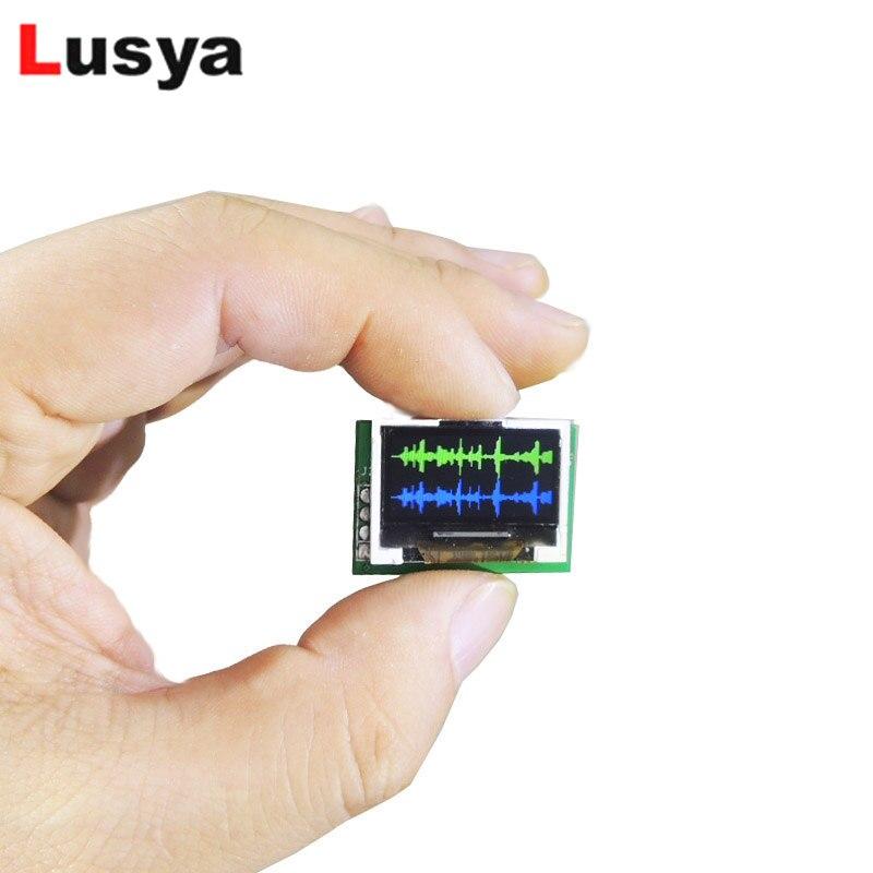 MINI 0,96 pulgadas OLED micro-ultrafino color espectro pantalla analizador doble canal multi-modo Módulo de música g4-002