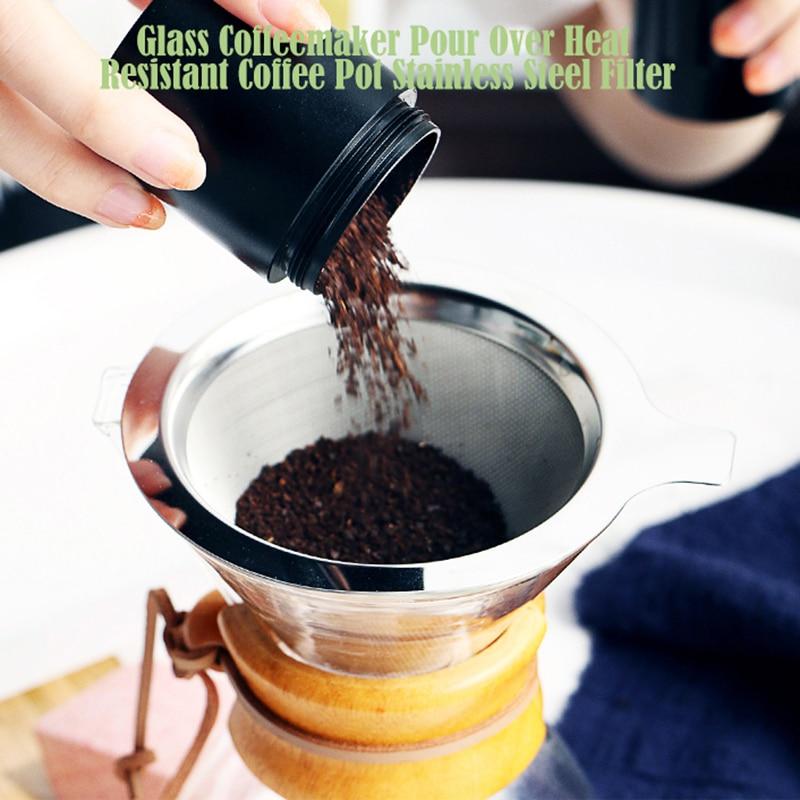 4000ml de vidro bule de café clássico resistente ao calor chaleira de café derramar sobre cafeteira café gotejamento pote de café percoladores de café #25