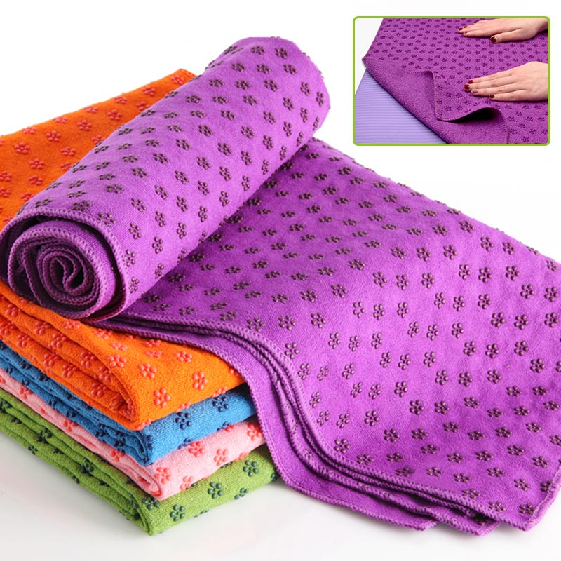 Новые Нескользящие сливы Йог Одеяло 183 см * 63 см впитывает пот абсорбент Germproof нескользящий коврик полотенце для пилатеса тренировки противоскольжения Одеяло
