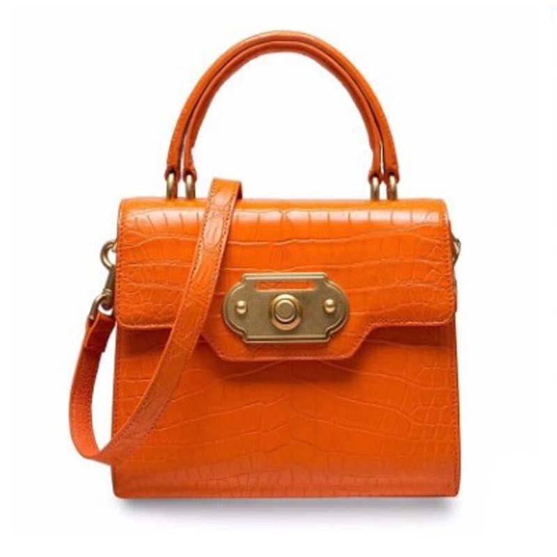 أوروي-حقيبة يد جلدية أصلية للنساء ، حقيبة بطن التمساح ، ماء لتلوين الماء المنزلي