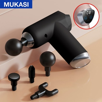 MUKASI LCD Massage Gun 32 Gear Fascia Gun Deep Tissue Neck Body Back Muscle Massager Relaxation Pain Relief Exercise