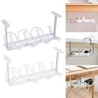 drilling free table bottom holder power strip adapter organizer shelf cable storage rack desk management kitchen storage rack